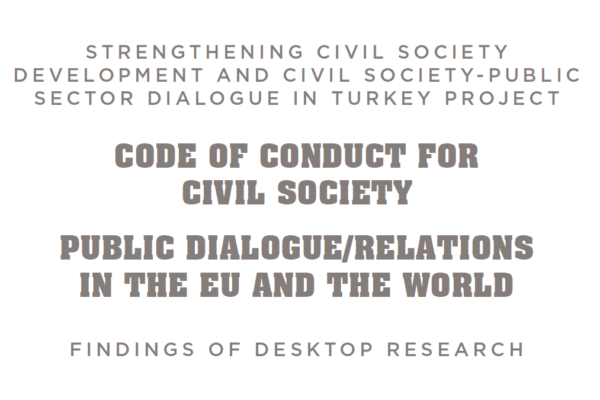 Code of Conduct for Civil Society, Public Dialogue/Relations in the EU and the World: Findings of Desktop Research
