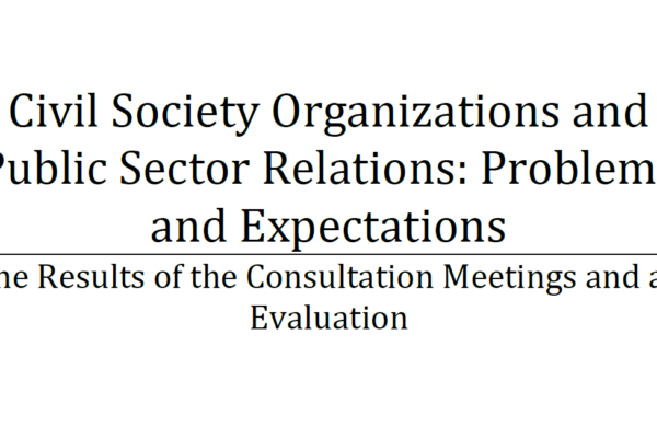 Civil Society Organizations and Public Sector Relations: Problems and Expectations Report