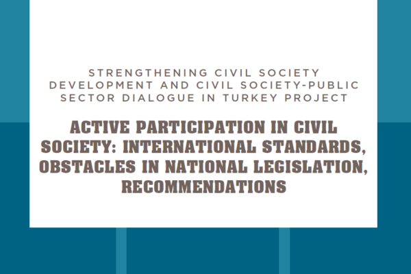 Active Participation in Civil Society International Standards, Obstacles in National Legislation, Recommendations