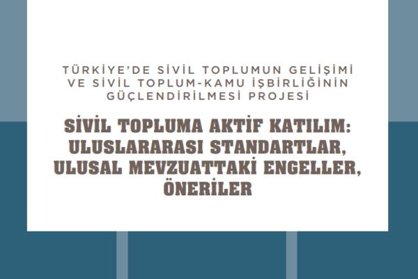 Sivil Topluma Aktif Katılım: Uluslararası Standartlar, Ulusal Mevzuattaki Engeller ve Öneriler Raporu